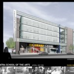 Architects rendering of Frank Sinatra School of the Arts, Astoria, Queens, New York.  Courtesy ennead architects and Exploring the Arts, Inc.