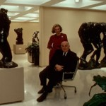 Iris and Bernie Cantor at the B.G. Cantor Sculpture Center at Cantor Fitzgerald.  The Center was at the top of the World Trade Center.  1981-1986