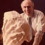 B. Gerald Cantor with the artist's plaster of The Hand of God, a gift from the Musée Rodin