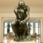 Rodin's The Thinker in the lobby of Cantor Fitzgerald Inc. world headquarters at The World Trade Center