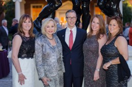 Foundation trustees Michele Geller, Iris Cantor, Ryan Fisher, Suzanne Fisher, and Monica Muhart at the opening reception.